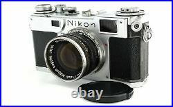 Exc- Nikon S2 Vintage Rangefinder Camera Nikkor H. C 5cm 50mm f/1.4 from Japan