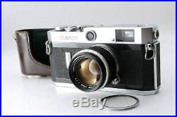 Excellent Canon P 35mm Rangefinder Film Camera + Lens 50mm f1.8 From JAPAN