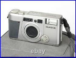 FUJI Fujifilm KLASSE W 38mm f/2.6 Silver Film Camera EX Box