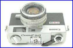 FedEx Unused Canon Canonet QL17 GIII G-III chrome From Japan #043