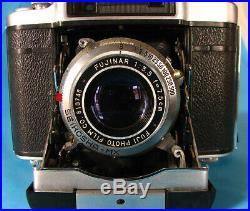 Fuji Super Fujica-6 Medium Format Rangefinder Folding Film Camera 6x6, Fujifilm