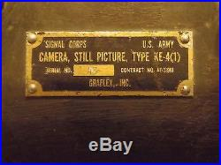 Halliburton Case, Flash Attachment and Lens Hood for Combat Graflex KE-4 70MM