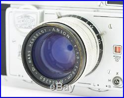 Hensoldt Wetzlar Henso Reporter Camera with Arion 1.9/50 mm Lens
