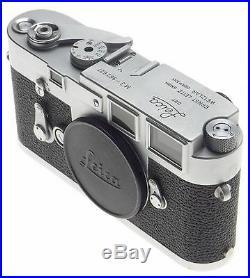 JUST SERVICED CLA'd LEICA M3 CHROME LEITZ 35mm FILM CAMERA BODY SINGLE STROKE