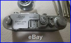 JUST SERVICED Leica IIIB IIIC rangefinder camera 50mm 5cm 3.5 collapsable lens