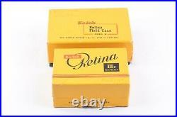 KODAK RETINA IIIc CAMERA withSCHNEIDER 50mm F2, GOOD METER, ADVANCE STICKS, withCASE
