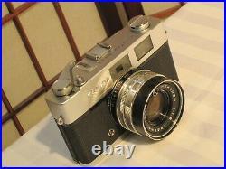 KONICA AUTO S2 RANGEFINDER 35 mm FILM CAMERA w 11.8 f=45mm LENSE & LEATHER CASE
