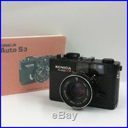 KONICA Auto S3 Mess-Sucher-Kamera fimtested Range-Finder-Camera mit 38mm 11.8