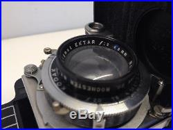 Kodak Bantam Special Art Deco Camera With Case And Manual - Ektar 45mm F/2 Lens
