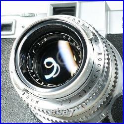 Kodak EKTRA 35mm Film Rangefinder Camera Ektar 50mm f1.9 Lens Works! RARE