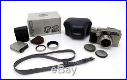Kyocera Contax G2 AF 005335 TLA 140 Flash Carl Zeiss Planar 9526490 45 F2 ja192