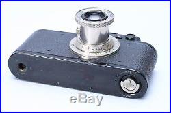 LEICA II BLACK STANDARD CAMERA No. 88269 with PUSH-BUTTON NICKEL ELMAR 50MM F/3.5