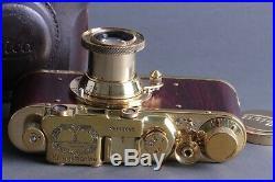 LEICA II(D)K. M. Kriegsmarine WWII VTG Russian RF 35mm Gold Camera /FED copy
