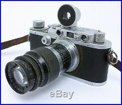 LEICA III mit Elmar 5cm f/3.5 & 9cm f/4 Bj. 1936 mit Tasche // vom Händler