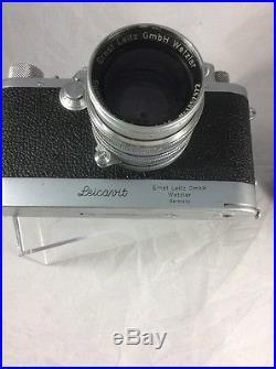 LEICA IIIf Black Dial camera WITH LEICAVIT And Summarit 50mm F1.5 Leica Bundle