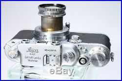 LEICA LEITZ IIIC LTM RANGEFINDER With SUMMAR 50MM F/2 COLLAPSIBLE LENS & CASE