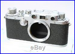 LEICA LEITZ IIIc 35MM FILM CAMERA RANGEFINDER LTM BODY No. 438914 SHARKSKIN