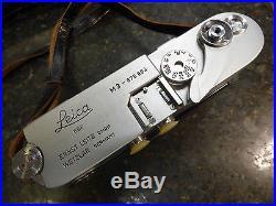 LEICA M3 35mm Camera RANGEFINDER DOUBLE STROKE Vintage-1957 CLA DBP ERNEST LEITZ