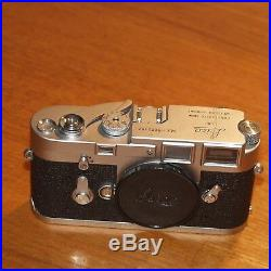 LEICA M3 camera body 1073192 satin chrome Wetzlar Germany 1963
