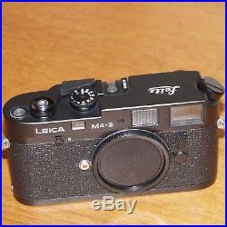 LEICA M4-2 BLACK camera body 1530829 made in CANADA 1980