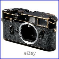 LEICA M4 RANGEFINDER FILM CAMERA REPAINTED VINTAGE BLACK HEAVY BRASSING / CLA'd