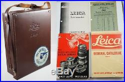 LEITZ TIME CAPSULE WARTIME LEICA IIIb OUTFIT, 3 LEITZ LENSES, VIDOM, +1939 FILM