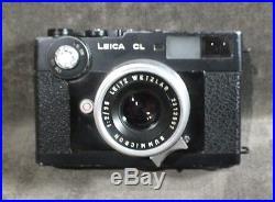 Leica CL Leitz Wetzler 12/35 Summicron Range Finder Camera MS3 CS