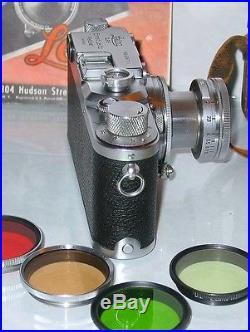 Leica D. R. P. Lllc Rangefinder Camera with Ernst Leitz Wetzlar Summitar 5cm f/2