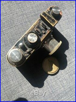 Leica I (A) vintage camera. Elmar 50mm f/3.5 lens. Hood