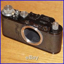 Leica II 35mm film camera rangefinder BLACK BODY 78905 WETZLAR GERMANY 1932