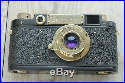 Leica II D Berlin 1936 Panzerkampf lens Leitz Elmar Exclusive (Fed Zorkii copy)