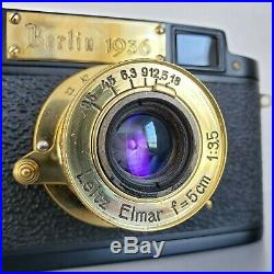 Leica-II (D) Berlin Olympics 1936 camera vintage Leitz Elmar 3.5/50 (FED Copy)