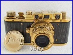 Leica II(D) D. R. P. ERNST LEITZ WETZLAR WW2 Vintage Russia 35MM GOLD Camera EXC