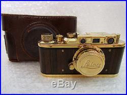 Leica-II(D) Das Reich WWII Vintage Russian RF Film 35mm Gold Photo Camera EXC