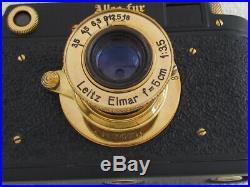 Leica II(D) Dermundetenabzeichen 1939-1945 WWII Vintage Russian 35mm Camera EXC