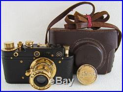Leica II(D) Dermundetenabzeichen WWII Vintage Russian 35mm RF Camera EXCELLENT