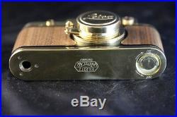 Leica II (D) Luftwaffe D. R. P. WWII Vintage Russian 35mm RF Gold Camera EXCELLENT