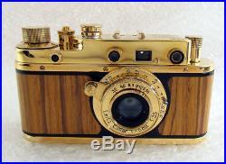 Leica-II(D) Luftwaffe Ernst Leitz Wetzlar WWWII Vintage Russian GOLD Camera EXC