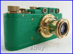 Leica II(D) Luftwaffe WWII Vintage Russian RF 35MM GREEN Camera EXCELLENT