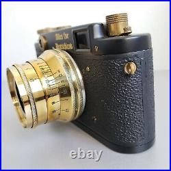 Leica-II (D) Luftwaffe camera vintage SONNAR Carl Zeiss Jena 2.8/52 FED Copy