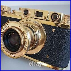 Leica-II (D) Luftwaffe camera vintage with Leitz Elmar 3.5/50 FED Copy