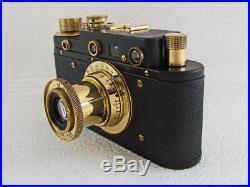 Leica II(D) Panzerkampf WWII Vintage Russian 35mm Camera + Lens Elmar EXCELLENT