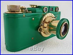 Leica II(D) Wehrmacht Heer Sonderberichter WWII Vintage Russian Green Camera EXC