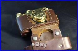 Leica-II(D) Wiking WWII Vintage Russian 35mm Gold Camera + Lens Leitz Elmar EXC