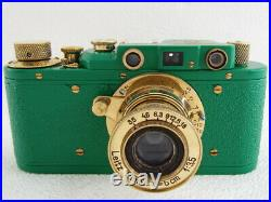 Leica-II(D) Wiking WWII Vintage Russian RF 35MM GREEN Camera EXCELLENT