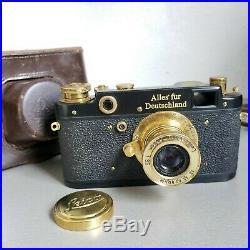 Leica-II Kriegsmarine vintage camera Leitz Elmar 3.5/50 (FED Copy) S/N 180378