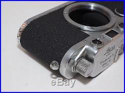 Leica IIC Sharkskin 35mm camera body. Vintage. Uses Leica M39 Screw Mount Lenses