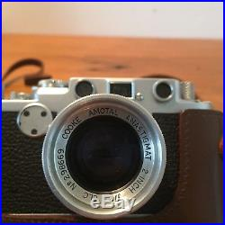 Leica IIF Rangefinder camera with Cooke Amotal Anastigmat 2 f/2 ELC lense
