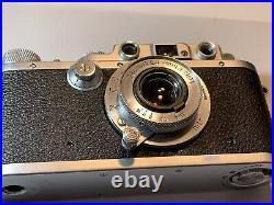 Leica III Rangefinder 1939 with Elmar 50 3.5 Lens. Camera Body And Lens