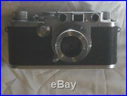 Leica III c DRP, vintage 35mm rangefinder camera, lens Elmar lens 5cm 1-3